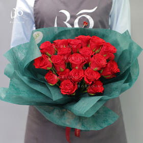 红色纯玫瑰11枝/19枝/33枝/52枝