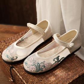 TCXY62003新款民族风优雅气质休闲棉麻网布绣花布鞋TZF
