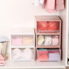 可叠加抽屉式文胸内裤收纳整理整理箱收纳柜内衣收纳盒