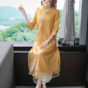 FNZD20108新款中国风装端庄大气连衣裙TZF