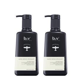 【李佳琦强推】B2V墨藻丝滑修护洗发水520ml*2瓶|深寒精华 毛躁修护 柔顺丝滑【个护清洁】