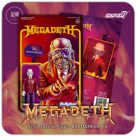 Super7 Megadeth Vic Rattlehead 复古 挂卡 潮玩