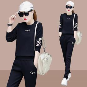 AHM-xde867新款潮流时尚气质休闲纯色卫衣铅笔裤运动两件套TZF