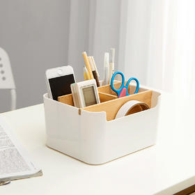 日式客厅办公室桌面储物箱纸巾盒整理箱收纳盒收纳箱