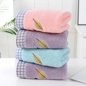 MYFZ新款素色刺绣加厚毛巾TZF