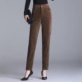 MQ-4060-213新款时尚气质松紧高腰灯芯绒直筒裤TZF