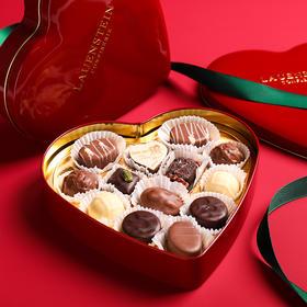 [手工松露酒味夹心巧克力 爱心礼盒]德国进口LAUENSTEIN巧克力 150g/13粒