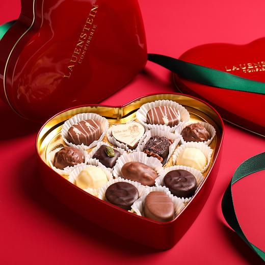 [手工松露酒味夹心巧克力 爱心礼盒]德国进口LAUENSTEIN巧克力 150g/13粒 商品图0