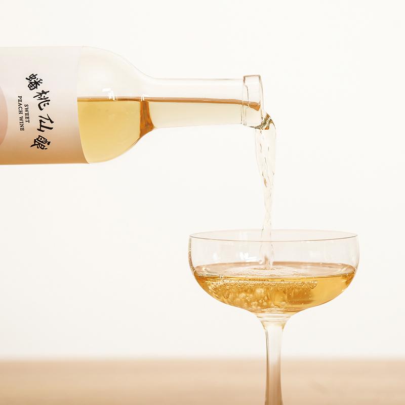 [几盏浮生X上美影 | 蟠桃仙酿桃子酒]神仙颜值 气氛果酿  500ml/瓶 商品图1