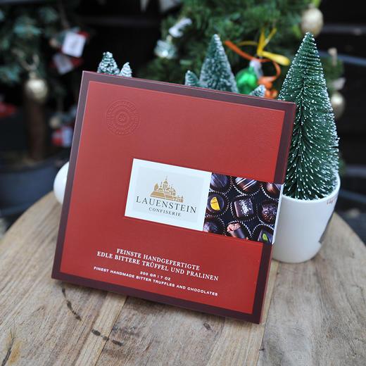[手工松露酒味夹心巧克力 黑巧礼盒]德国进口LAUENSTEIN巧克力 200g/16粒 商品图1
