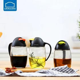 【买一赠一 共2个 颜色随机】韩国locklock乐扣乐扣玻璃油壶醋壶家用防漏酱油瓶厨房醋瓶调料瓶