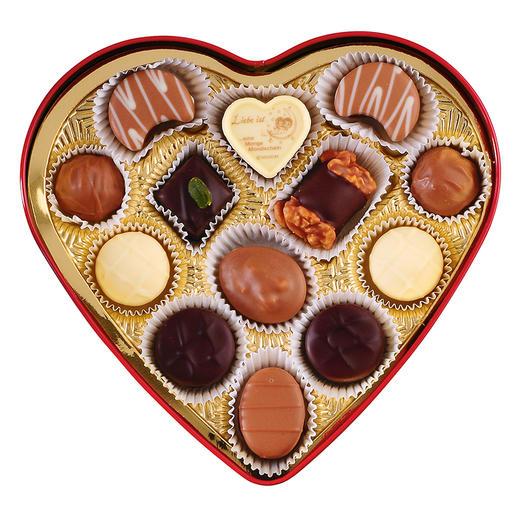 [手工松露酒味夹心巧克力 爱心礼盒]德国进口LAUENSTEIN巧克力 150g/13粒 商品图4