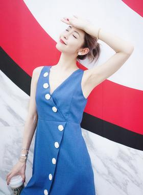 Maison Covet 自有品牌  牛仔蓝连衣裙
