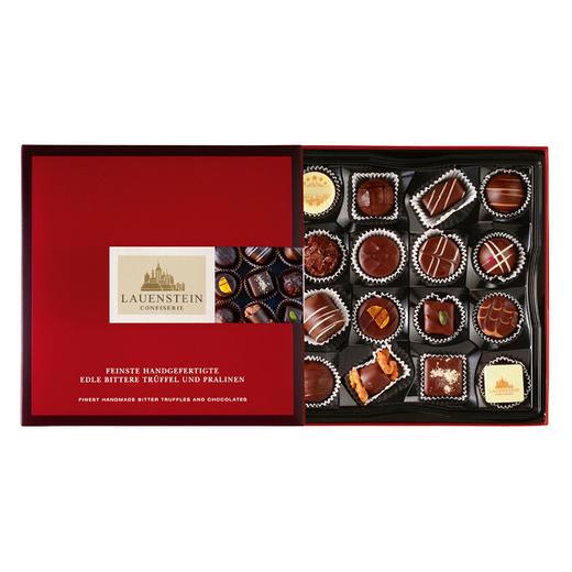 [手工松露酒味夹心巧克力 黑巧礼盒]德国进口LAUENSTEIN巧克力 200g/16粒 商品图2