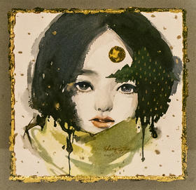 水彩 Girl Series 陈圣萱 37x37cm
