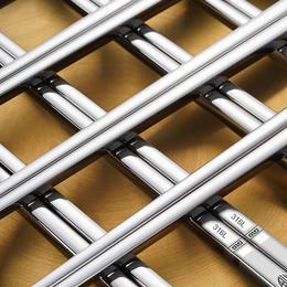 【比304还好的不锈钢筷子】316L不锈钢筷子一体成型中空隔热防滑抑菌