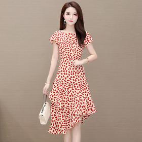 修身时尚,优雅减龄鱼尾气质短袖连衣裙YW-TB-MLN8013