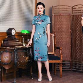 中国风复古,演出走秀改良版旗袍裙TY-JYJ-016