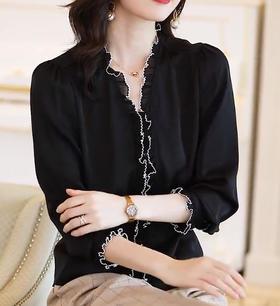 QCJZ7551新款潮流时尚气质休闲刺绣衬衣TZF