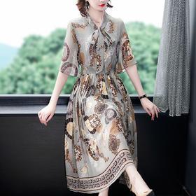 NYL3091957新款时尚气质百褶雪纺裙TZF