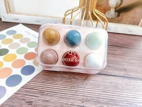 BK小彩蛋七天无味亮片快干水性甲油美甲指甲油 1盒6色黄色+蓝色+红色+绿色+粉色+透明色