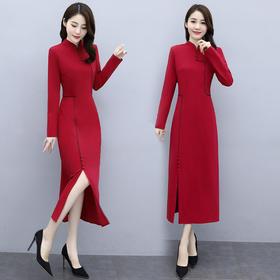 时尚优雅,气质纯色连衣裙HR-WO68559
