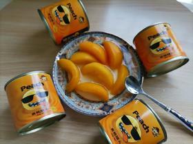淘小奇 黄桃罐头200g罐4罐憋罐罐变形不售后 介意者慎拍!