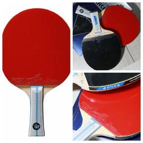 【特价包邮】729少儿青训5层纯木乒乓球拍套装(送两面套胶+拍套+护边+护膜+海绵擦)