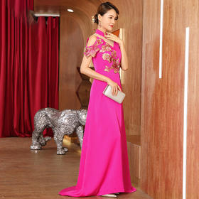 DLQ-A2593新款名媛气质改良版旗袍连衣裙TZF