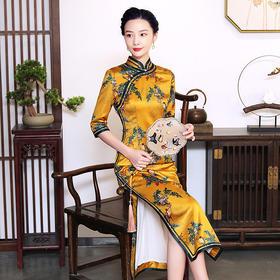 【秋声】修身显瘦,钻石丝复古长款走秀日常旗袍TY-JYJ-023
