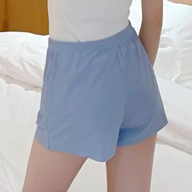【6条装】薄款冰丝螺纹防走光安全裤,不卷边无痕边宽松三分裤XF501