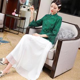 复古刺绣,民族风设计感小立领中式上衣OG-99534