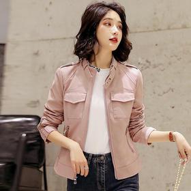 韩版修身显瘦,皮衣女短款小外套HR-YYG82551