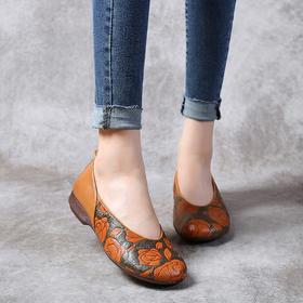 PMXY6603-1新款民族风真皮女士浅口单鞋TZF