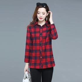 MQ1157-211新款格子衬衫宽松纯棉衬衣TZF