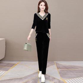 气质减龄,修身显瘦长袖卫衣+休闲长裤两件套YW-KED-BC030