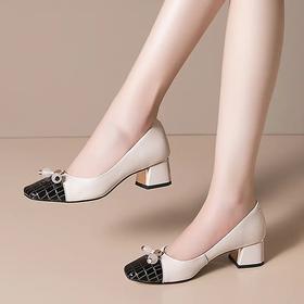 简约个性,粗跟方头浅口四季单鞋OLD-RB2212