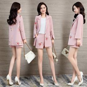 修身百搭,时尚个性简约显瘦西装两件套HR-GJC6857