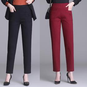 MQ4060-217新款休闲高腰显瘦直筒裤子TZF