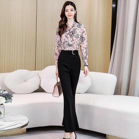 OL气质印花,时尚休闲套装HR-HHYS917