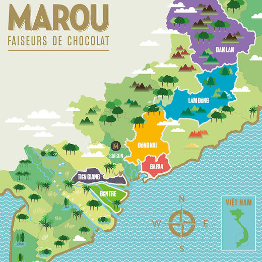 [Marou 6大产区小礼盒]精选六大可可单源产地  (共6块,24g/块) 商品图10