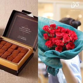 BoBloom x SILSMARIA(19枝红玫瑰+生巧一盒)