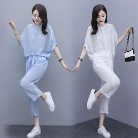 洋气减龄,时尚运动棉麻两件套HR-BX1302