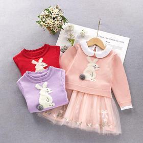 ALBL2025新款女童洋气公主裙纯棉套装TZF