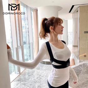 张雨绮同款 韩国DOMINOMOCO背背佳矫姿防驼背夏薄魔术贴矫正带