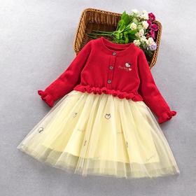 ALBL2026新款女童纯棉毛衣连衣裙TZF