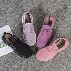 TYZ2205新款时尚飞织聚氨酯一脚蹬运动软底鞋TZF