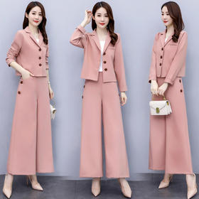 时尚潮流,舒适优雅气质西装领两件套CQ-RSLD8503