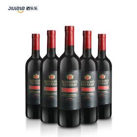 洛神山庄黑金典红葡萄酒西拉赤霞珠