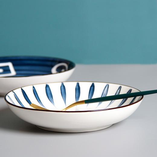 【为思礼】「日式手绘瓷器餐具」16件套日式和风千叶草手绘餐具套装 盘子/碗 商品图5